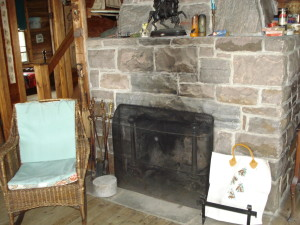 Thomson cottage fireplace