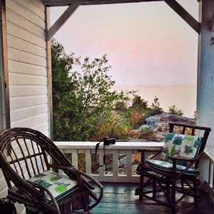 Thomson cottage porch by Sally Lennox